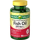 Spring Valley - Fish Oil 1290 mg, Omega-3 900 mg, Enteric Coated, 100 Mini Softgels