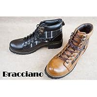 [ブラッチャーノ] Bracciano アンティーク加工チェックブーツ