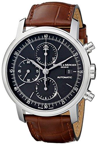 baume-et-mercier-classima-cadres-en-acier-inoxydable-montre-chronographe-automatique-marron-montre-v