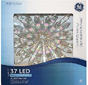 """12"""" Icy Crystal LED Lighted Christmas Star Tree Topper - Warm White Lights"""