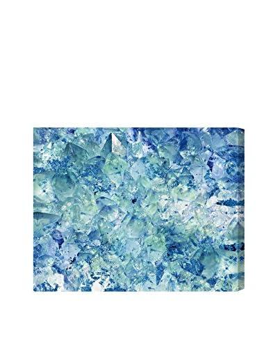 Oliver Gal Blue Crystals Canvas Art