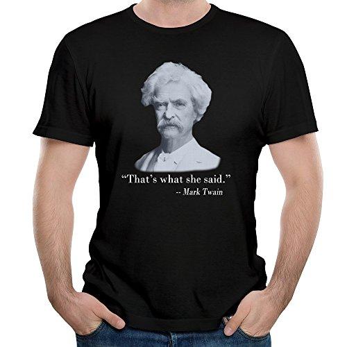 Men's That's What She Said Mark Twain T-Shirts Black