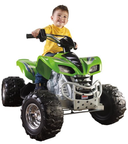 Fisher-Price Power Wheels Kawasaki KFX - Green & Chrome