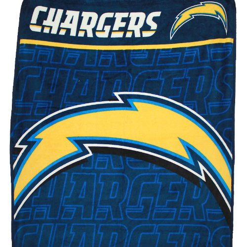 Nfl San Diego Chargers Plush Thermal Blanket Fleece