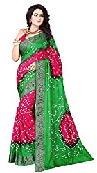Dealfiza Attractive Pink Color Bandhani Saree