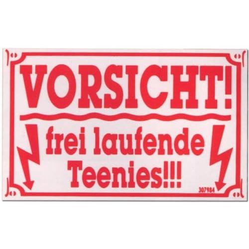 PST-Schild - Vorsicht frei laufende Teenies - Schild Spaßschild Spaß ...