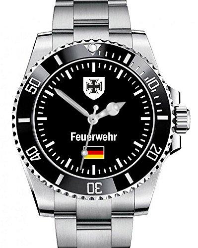 Feuerwehr der Bundeswehr Armee Militär Army Motiv Uhr - Armbanduhr 1020