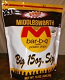 Middleswarth Chips, BBQ, 15-Ounce (Pack of 2)