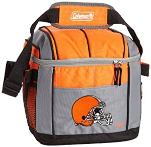 NFL Cleveland Browns 24 Can Soft Sided Carry Coleman Cooler by Licensed Products