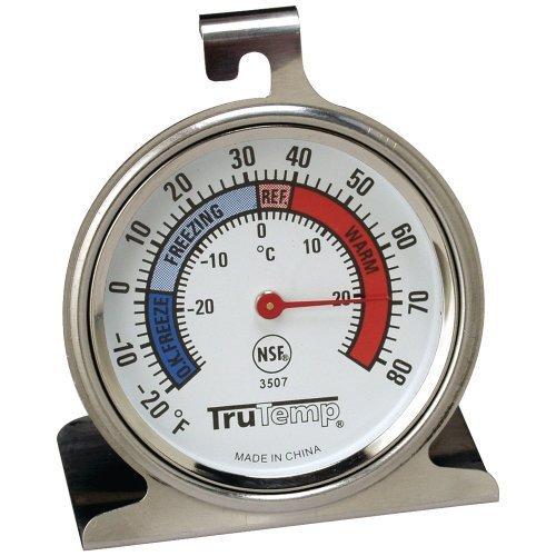 Tru Temp Refrigerator-Freezer Thermometer (Refrigerator Thermometer Plastic compare prices)