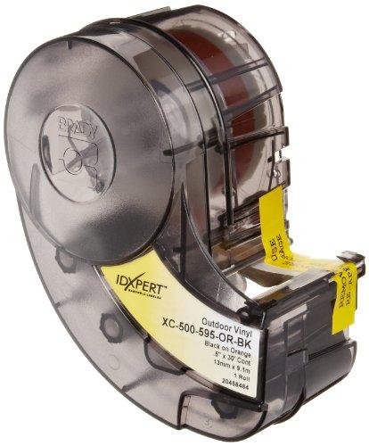"Brady Xc-500-595-Or-Bk Idxpert & Labxpert Labels B-595 Indoor/Outdoor Vinyl Film Black On Orange, Printable Area: 19.000"" W X 0.500"" H 1 Roll (30Ft.)/Cartridge"