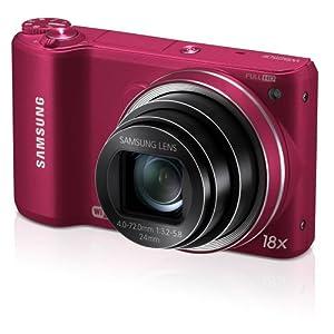 "Samsung WB250F Smart Wi-Fi Digital Camera, 14.23 Mega Pixal with 18x Optical ZOOM, 3"" LCD display Wi-Fi  (Red)"