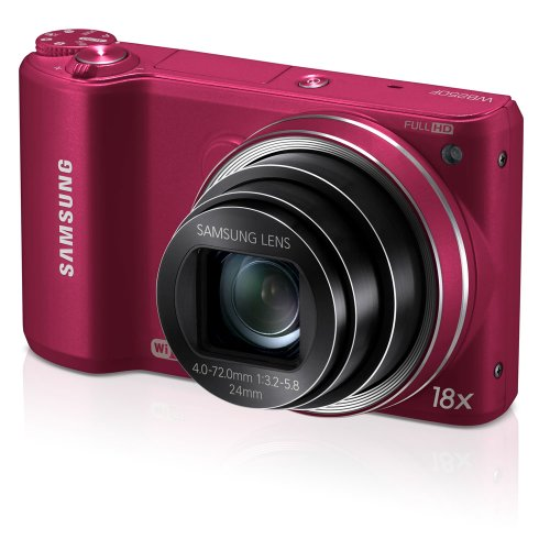 51gHNcsREAL Samsung WB250F Smart Wi Fi Digital Camera, 14.23 Mega Pixal with 18x Optical ZOOM, 3 LCD display Wi Fi  (Red)