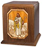 Walnut Lord Is My Shepherd Companion Wood Cremation Urn