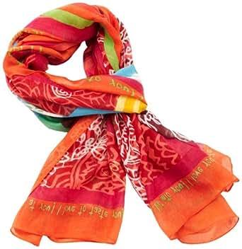 Desigual - nomon - foulard - imprimé - femme - rouge (rojo fresa) - taille unique