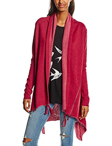 Urban Classics Ladies Terry Cardigan, Giubbotto Donna, Rot (Burgundy 606), 40