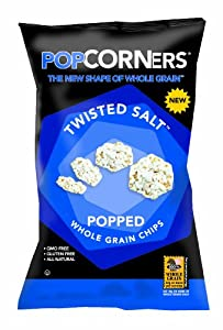 PopCorners Popped Whole Grain Chips, Twisted Salt, 1.0 Ounce (Pack of 40)