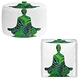 Foot Stools Poufs Chairs Round or Square from DiaNoche Designs by Susie Kunzelman Home Decor and Unique Bedroom Ideas - Man Woman Yoga II