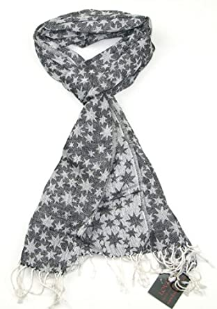 Brown Star Scarf for Men and Women - Lovarzi Long Cotton ...