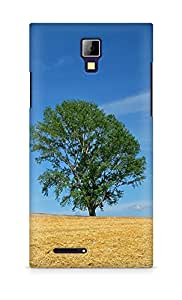 Amez designer printed 3d premium high quality back case cover for Micromax Canvas Express A99 (Field economy hay straw preparation summer tree)