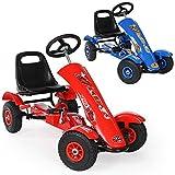 TecTake Go Kart Coche con Pedales - disponible en diferentes colores - (Rojo | No. 401032)