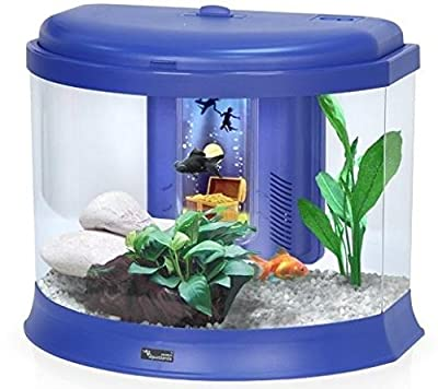 Kids / Childrens Small Aquarium Fish Tank with Money Box - 3 Colours / Nano Tanks Coldwater