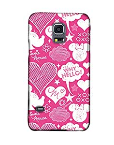 Pick Pattern with Exclusive DISNEY Characters Back Cover for Samsung Galaxy S5 Mini G800h