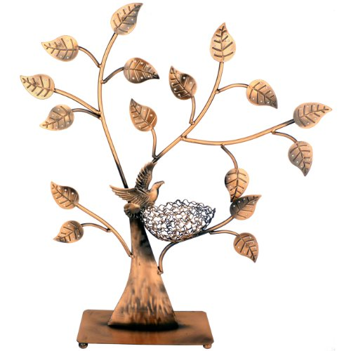 Jewelry Tree Bird Nest Table Top Décor 48 pair Earrings Holder / Bracelets Necklace Organizer Stand Display Tower: Home & Kitchen