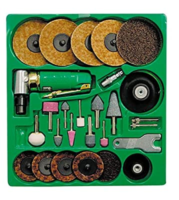 Mountain 7310 Surface Prep Kit with 90 Degree Angle Die Grinder and Surface Prep Pads