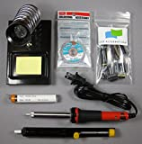 Samsung LN46A550 LCD TV, Complete Repair Kit v2, 8 Capacitors and Soldering Accessories (Soldering Iron and Stand, Solder Sucker, Solder and De-solder Wick)