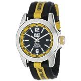 Relój para caballero analógico de CAT con una correa  de nylon Negro y amarillo YA14163134