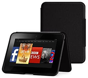 Amazon Standing Leather Cover, Onyx Black  [will only fit Kindle Fire HD 7 (2nd Generation)]