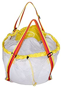 Raqpak Mesh Beach Bag Best for Kids, Baby Toys Foldable Extra Large and Sand Proof (76x47cm, Yellow Mixed)