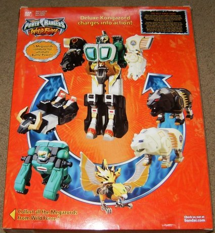 Power Rangers Wild Force Deluxe Kongazord Electronic Action Figure