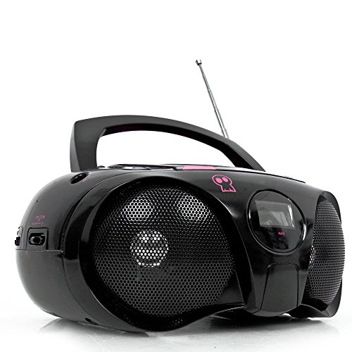 Kinder CD-Player Ghettoblaster Boombox Stereo portable AUX Radio inkl. Hello Kitty Sticker