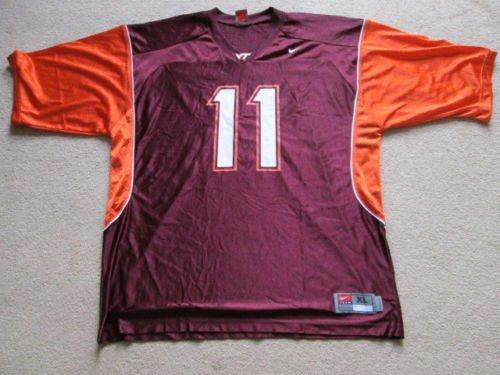 Virginia Tech Hokies NCAA American Football Nike Jersey #11 Mens Extra Large XL