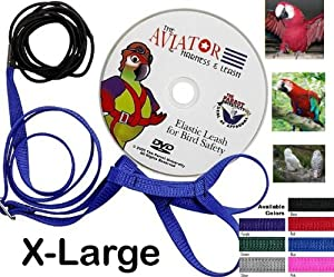 Aviator Harness and Leash X-Large Red