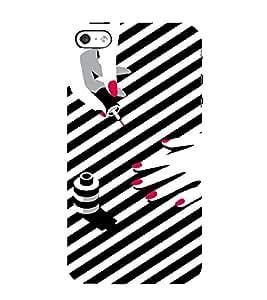 PrintVisa Fashion Nail Art Design 3D Hard Polycarbonate Designer Back Case Cover for Apple iPhone 5 :: 5S