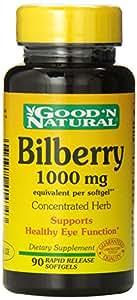 Bilberry 1000 mg Good 'N Natural 90 Softgel