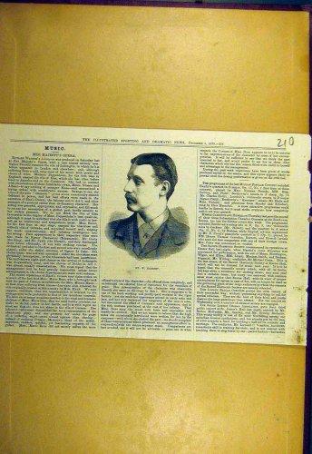 1879 Portrait Herbert Sporting Dramatic News Print