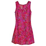 Women's Sunset Reflection Batik Pink Sleeveless Dress