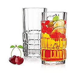 Cello Quadro Glass Set, 235ml, Set of 6, Clear