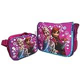 Disney Frozen Elsa, Anna & Olaf Large Messenger and Lunch Bag ...