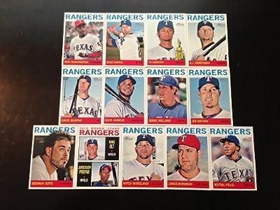 2013 Texas Rangers Topps Heritage Baseball Complete Mint 13 Basic Card Team Set