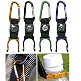 Amazon.co.jp旅行ハイキング多機能ツール/コンパス D型カラビナ付き ボトルバックルホルダークリップ ランダム色