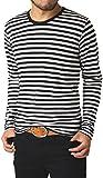 (リミテッドセレクト) LIMITED SELECT クルーネックボーダー長袖Tシャツ カットソー メンズ 大きいサイズ / R5L0470 / M / A ブラック 06