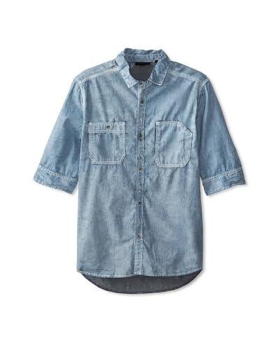 Rogue Men's Short Sleeve Denim Woven Shirt
