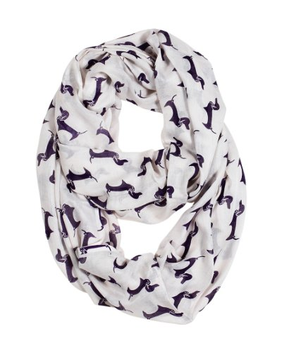 Women'S Acai Dachshund Doxie Dog Infinity Circle Fashion Scarf