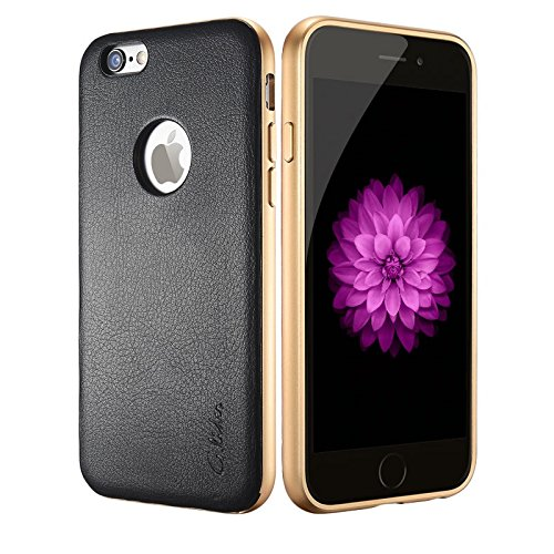 glider-stellar-metal-protection-frame-leather-case-for-iphone-6-6s-black