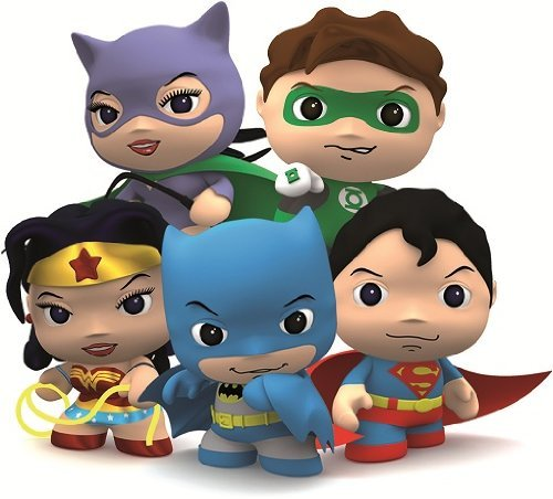 DC Comics Little Mates Batman Figurine And Puff Sticker